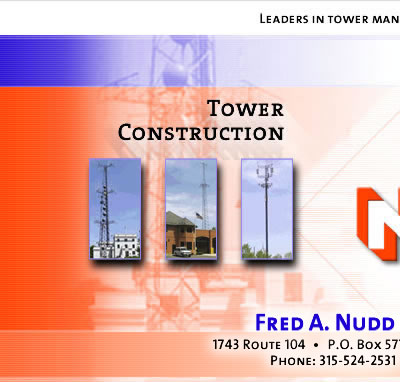 Cell Phone Towers and Tower Maintenance | Fred A. Nudd Corporation